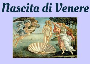 storia nascita venere italiano