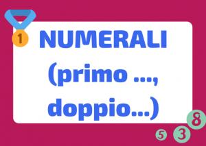 i numerali in italiano
