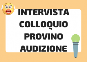 intervista vs colloquio italiano