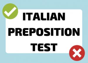 italian preposition test