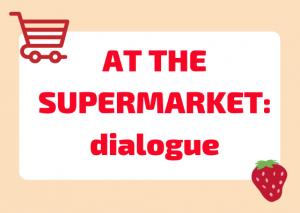 italian dialogue supermarket