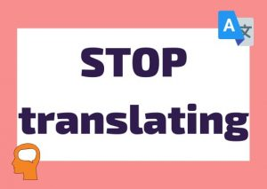 how to stop translating